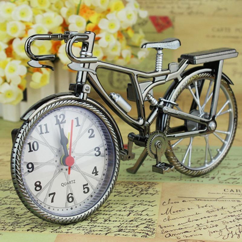 دراجات شكل الساعات الجدول المنبه الإبداعية الرجعية الأرقام العربية المنبه التنسيب مستلزمات ديكور المنزل هدية DBC DH0733