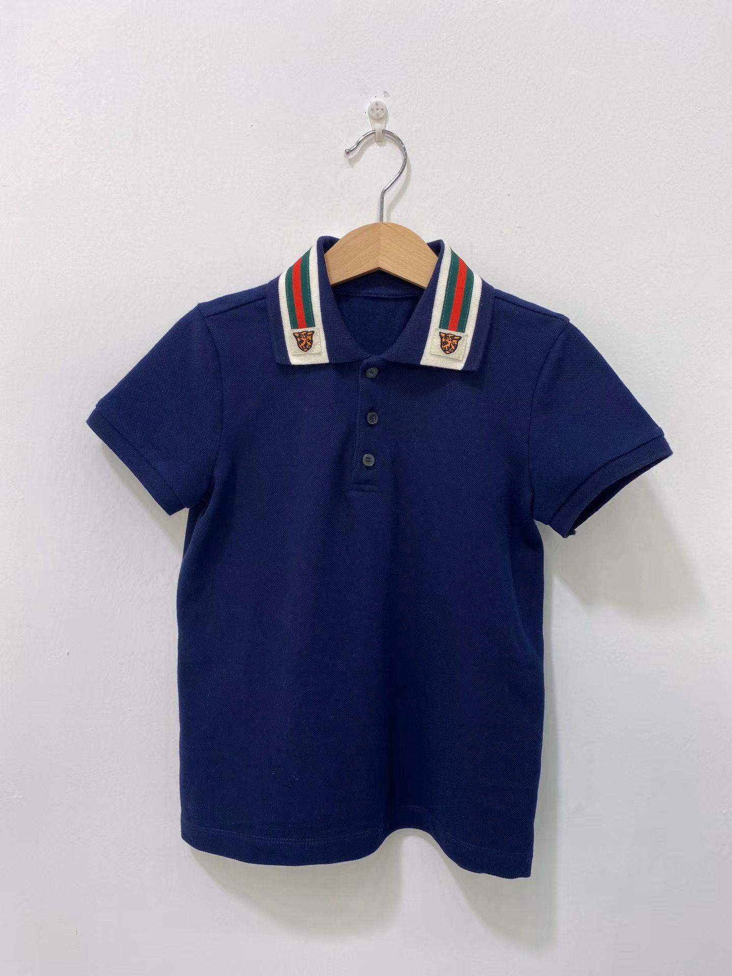 Collar Polo cotone di estate bambini Ragazzi Sprots camicie di cotone risvolto Odile tessuto T Moda Abbigliamento per bambini