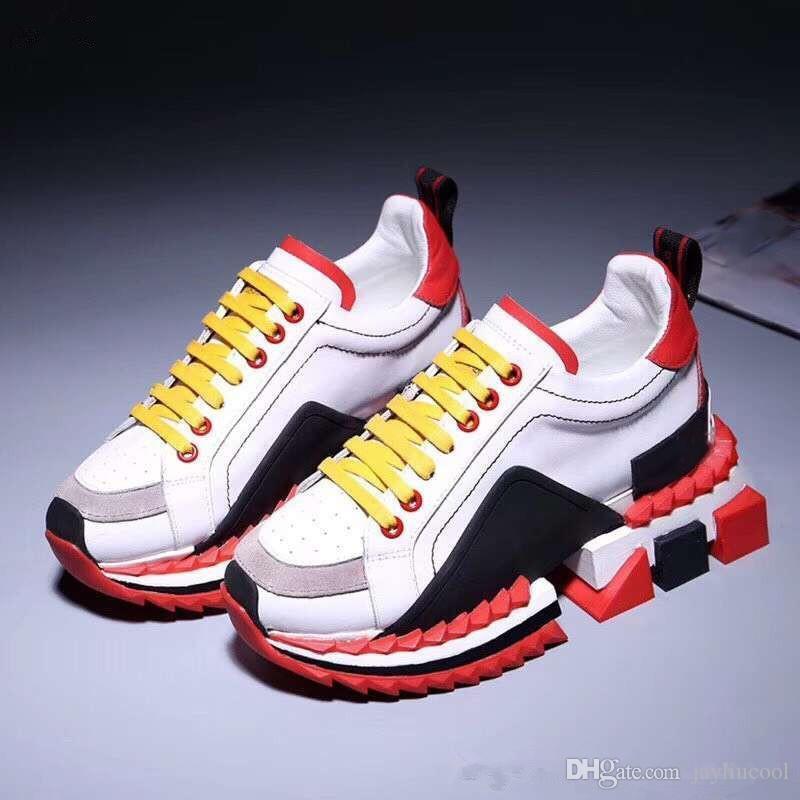 Ücretsiz Kargo Moda Tasarımcısı Ayakkabı Severler Sıcak Sneakers Guality Çok Rahat Ayakkabılar Ile Hakiki Deri Loafer'lar Kutusu
