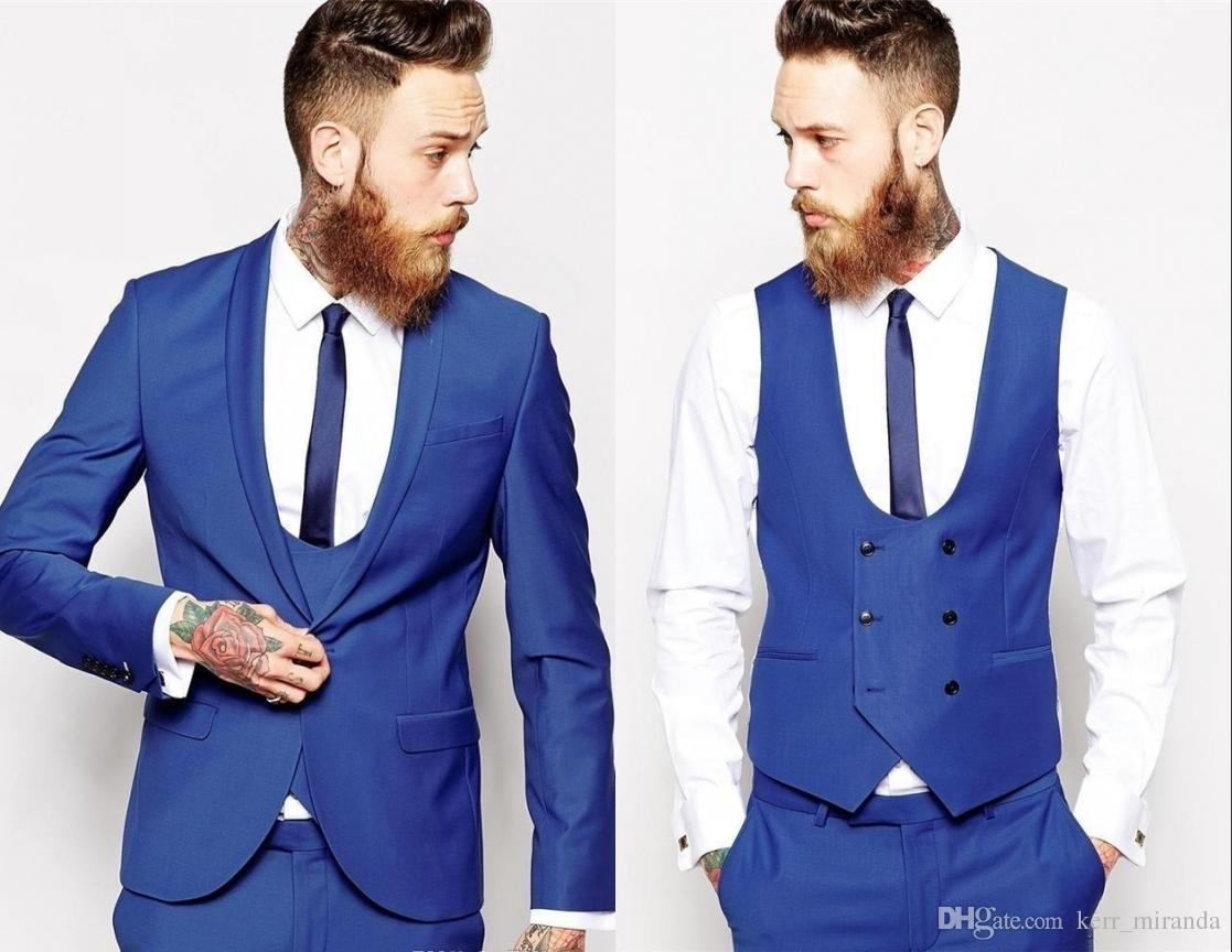 Nach Maß 4 Stücke Männer Hochzeitsanzüge Slim Fit Anzug Tailor Made Anzug Best Men Smoking-Bräutigam-Anzug High Quality (Jacket + Pants + Tie + Vest) HY601