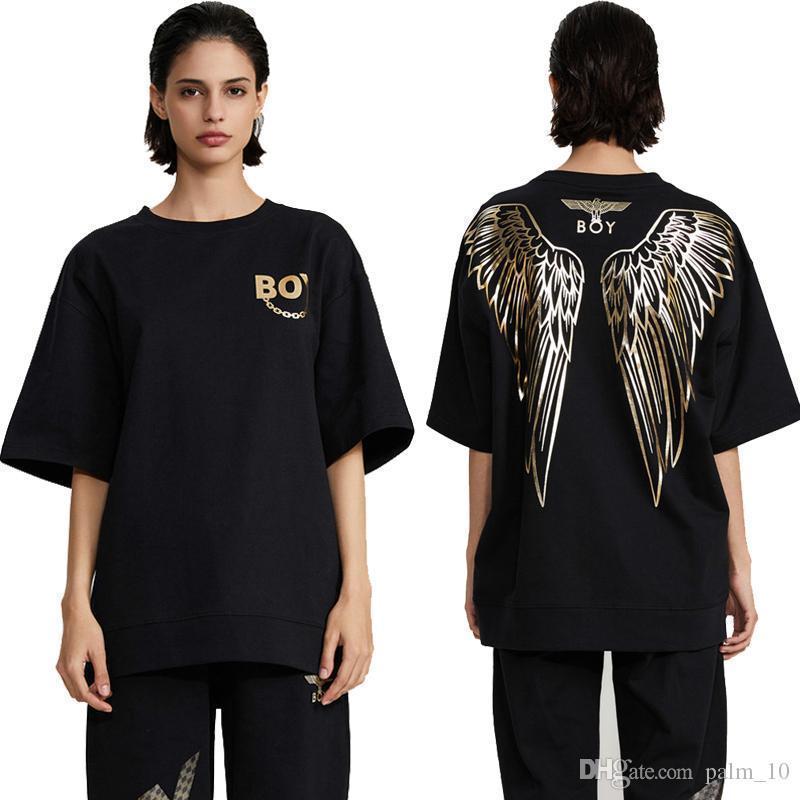 Boy London T para hombre Camisa del diseñador mujeres de los hombres de alta calidad de Blanco y Negro de moda de lujo de la tapa de la camiseta de manga corta M-2XL