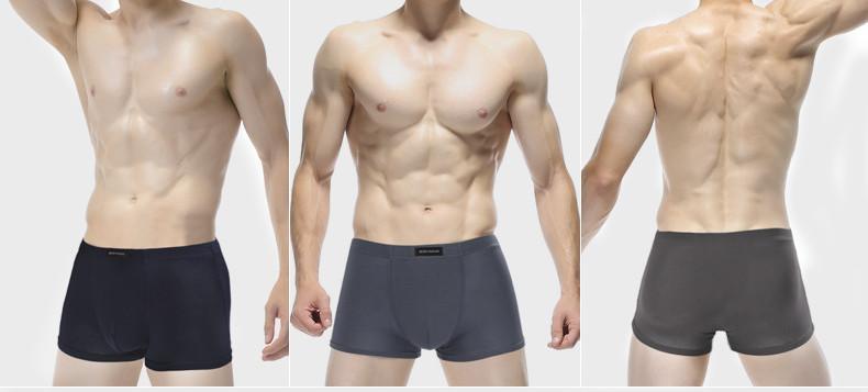 2020 Nueva puro de los hombres de color modal respirable ocasional boxeador resume las bragas cortocircuitos mayorista
