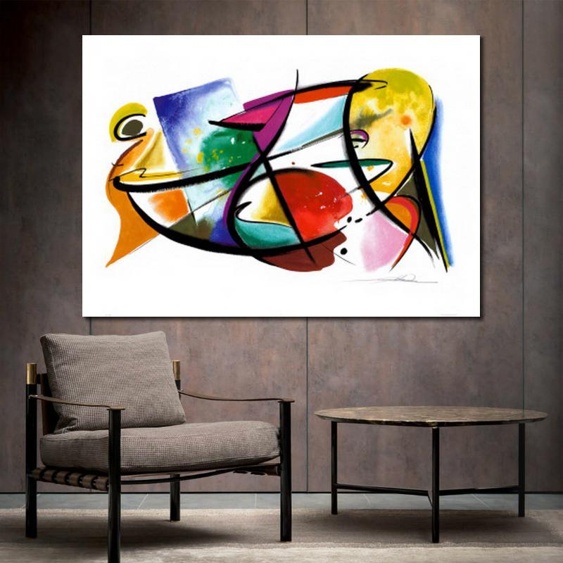 Modern abstract art Alfred Gockel oil paintings Canvas Play Off hand-painted artwork for living room wall decor