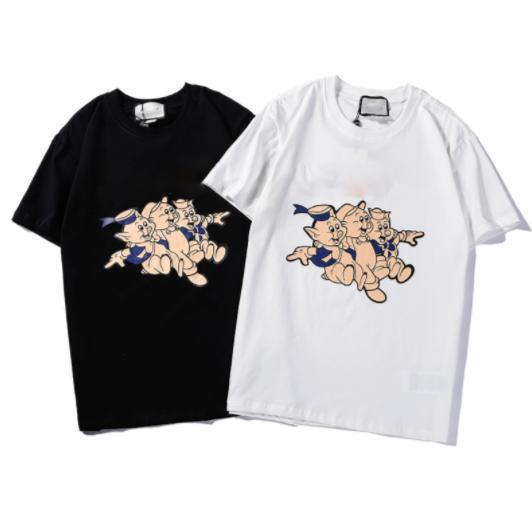 Caliente del nuevo diseñador para hombre de mujer de marca nueva camisa Fashionbrand camiseta de los hombres de verano camisas calientes de la manera Top camisetas de manga corta LJZ 2020504D