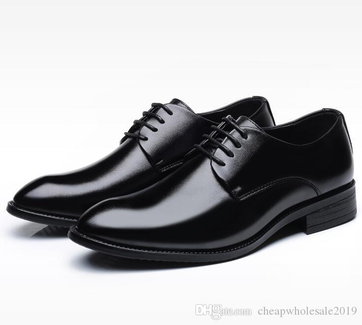 Mens Designer Shoes para homens sapatos de couro de negócios para homens com lace-up preto plus-size sapato de couro designer de luxo mens sapatos