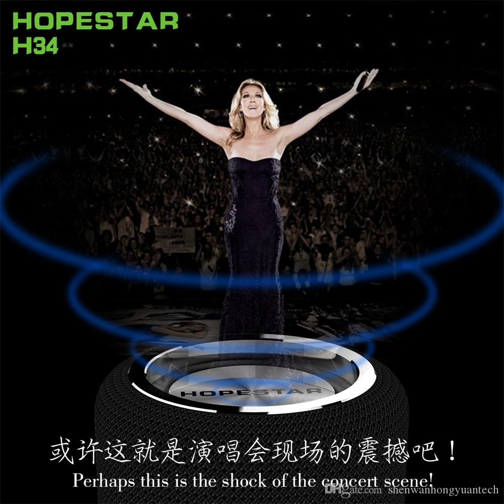 HOPESTAR H34 Portable Bluetooth Speaker Waterproof Subwoofer Stereo altavoces bluetooth With Serial Function 1200mah Power Bank Supply 10pcs