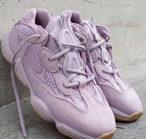 Kanye West 500 Vision douce Hommes Femmes Chaussures de course Kanye West Violet 500 Designer coureur de vague