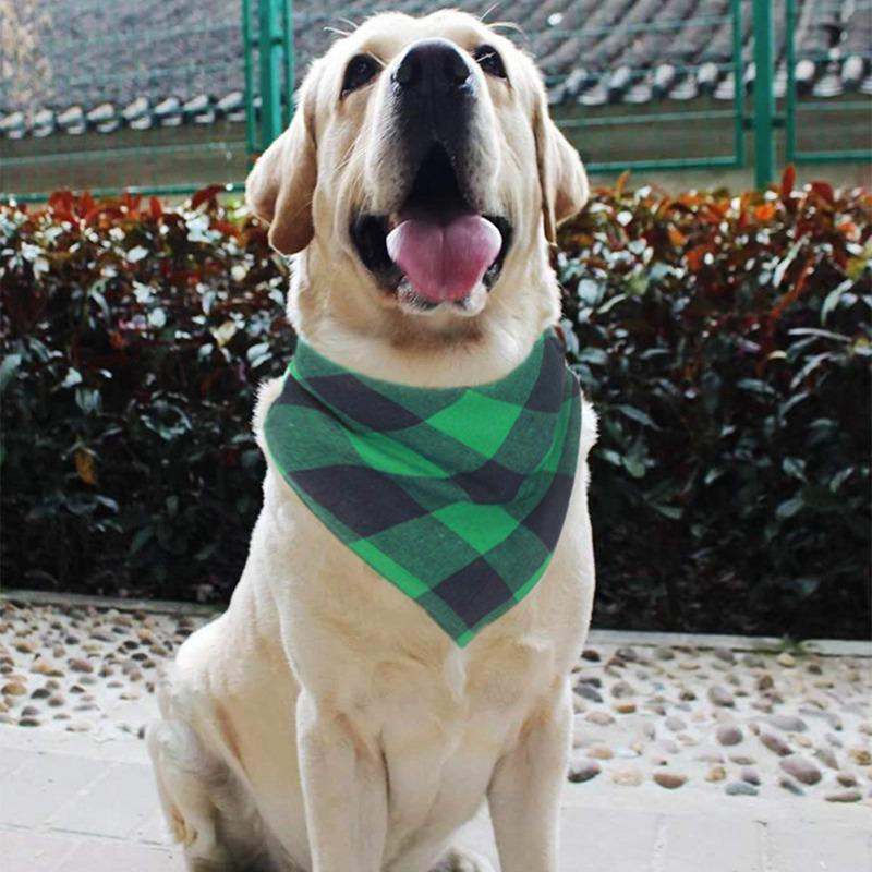 New Pet puro cotone morbido e traspirante Bandana per le piccole e medie cani Pet Plaid Triangolo Bib