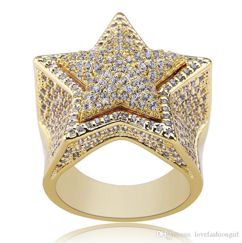 Качество класса золото посеребренная медь звездный кластер кольца роскошные высокое качество яркий кубический цирконий палец кольца ювелирные изделия Оптовая LR009