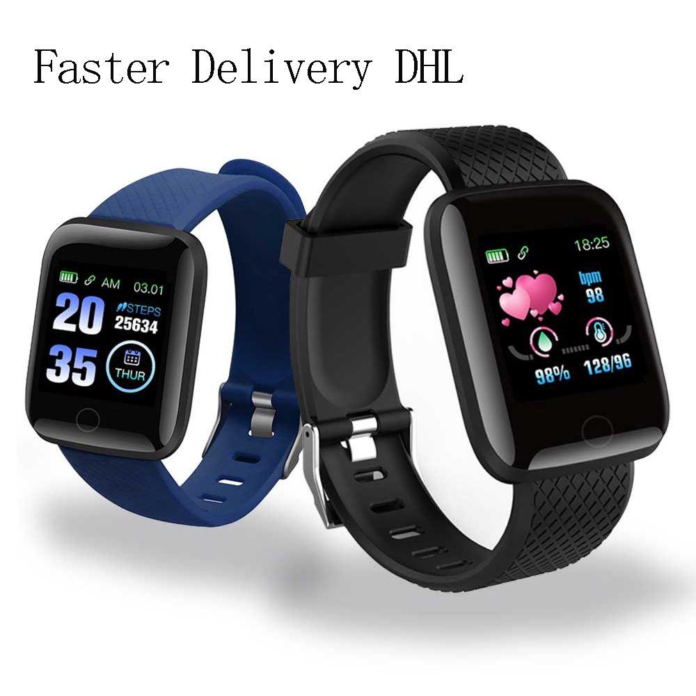 Großhandel Uhr D13 Smart-Uhren 116 Plus-Herzfrequenzuhr Smart-Armband-Sport-Uhren Band wasserdicht Smartwatch Android A2 Armband