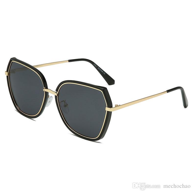 Top new 5 color men's women's polarizer multilateral fashion sunglasses fashion big box dazzling sunglasses to send glasses bags and boxes