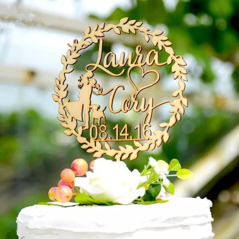 décoration de gâteau de mariage, gâteau de douche de mariée, gâteau de fiançailles, mariage personnalisé