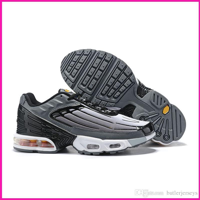 Buena TN Plus 3 zapatillas de deporte para hombre del diseñador de zapatos al aire libre Tns gimnasia de zapatos Blanco Negro Gris Recomendado Deporte Formadores Chaussures