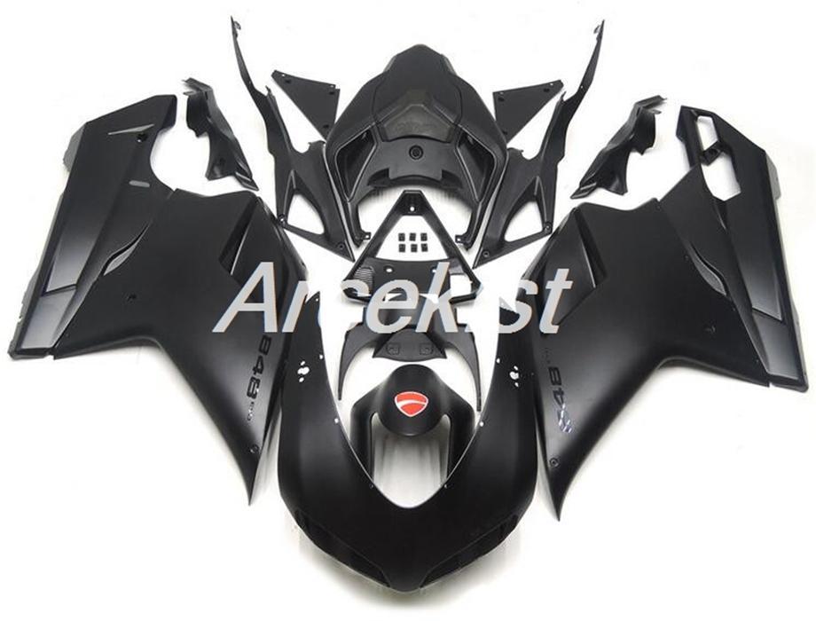 New ABS motorcycle Full Fairings set Fit For Ducati 848 1098 1198 1098s 1098R EVO 2007 2008 2009 2010 2011 2012 Custom Black Matte