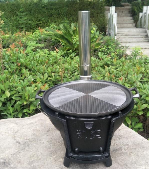Castiron carbone di legna Barbecue stufa stufa stufa a legna picnic potenza di fuoco regolabile 098