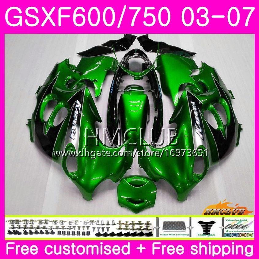 Body For SUZUKI KATANA GSX750F GSXF 750 600 03 04 05 06 07 Kit 2HM.0 GSXF750 GSX600F GSXF600 2003 2004 2005 2006 2007 Fairing Factory green