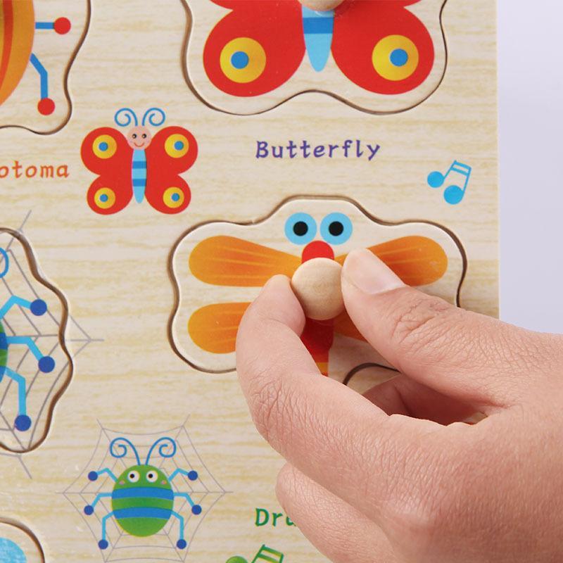 3D 나무 퍼즐 장난감 어린이 만화 동물 직소 퍼즐은 번호 IQ 나무 퍼즐 아기 DIY 교육 장난감 어린이 퍼즐 3D