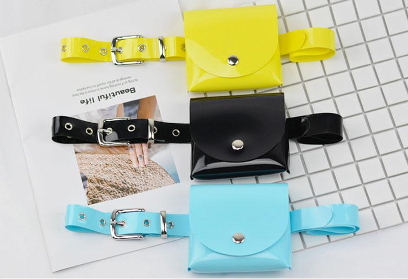 Women fashion waist bag waistpack ornament belt phone gadgets storage 10 by 10cm pouch fanny pack