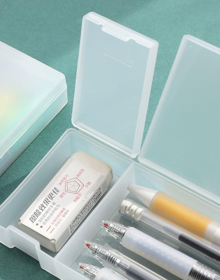 Pencil Case Stationery Box Clear Pen Packaging Box School Supplies Display Wholesale Stationery Gift Cute Pencilcase Student Gift Pencil Bag