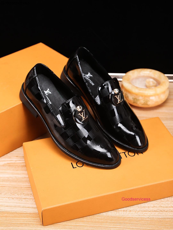 2020 Slip Charol hombres de la borla de los holgazanes de alta Qaulitys Casual Zapatos Calzado Hombre Negro Marrón cómodo WAN1