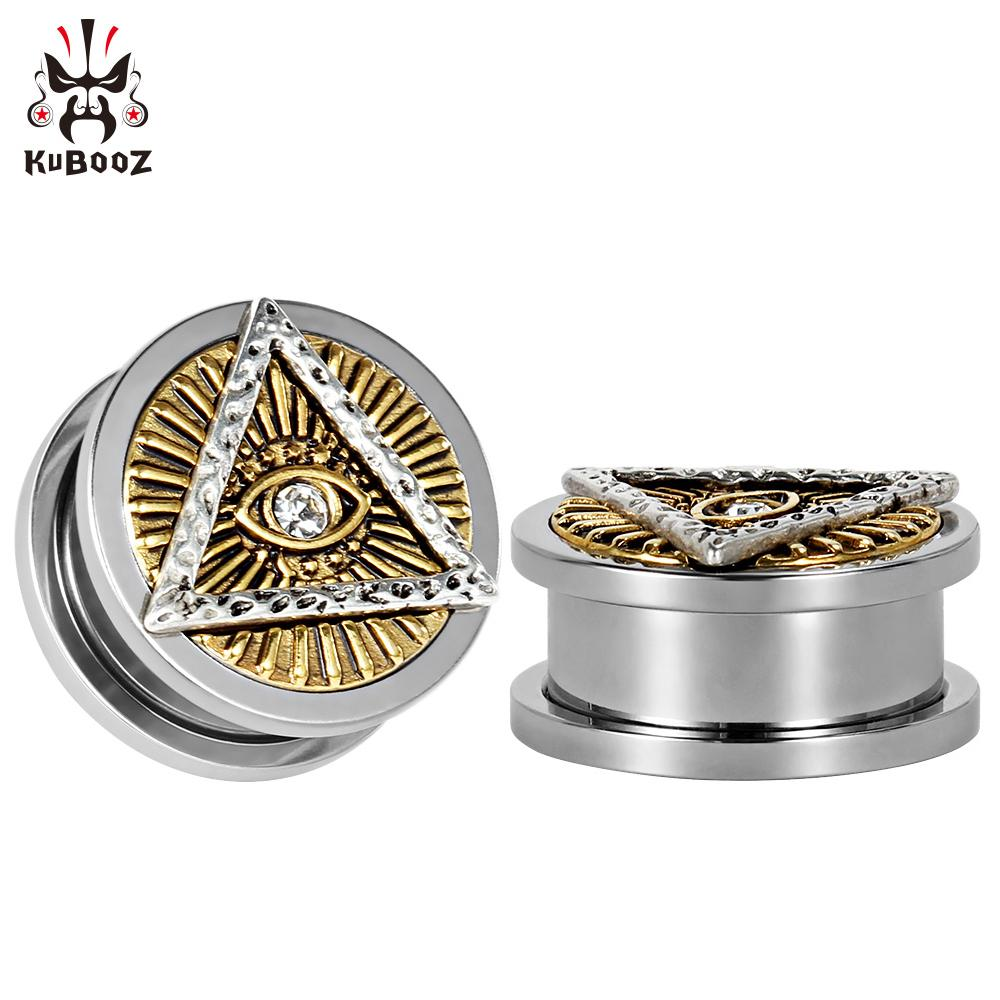 wholesale piercing stainless steel god's eye ear plugs helix ear tunnels earrings body piercing jewelry gauges wholesale