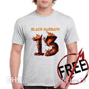 ЧЕРНЫЙ SSummerTH 13 Альбом Tour Логотип Metal Rock Mens серый Футболка Размер S 3XL