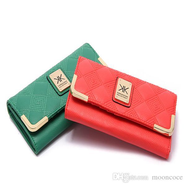 KK-Mappen der Frauen wallet Luxuxmappe Designer Portemonnaie Designer Luxus-Handtaschen Geldbörsen zippy Kupplung Leder Designer Kartenhalter-Mappen