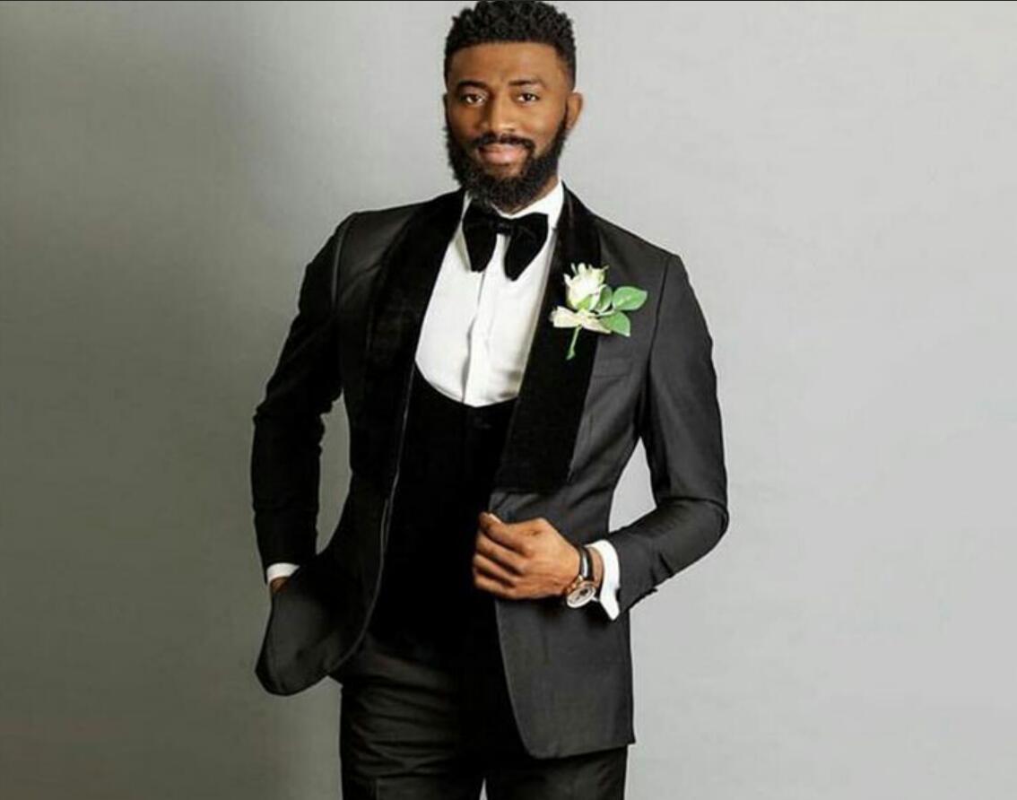 Men/'s Black Velvet Groom Tuxedos 2 Piece Shawl Lapel Dinner Wedding Suit Custom