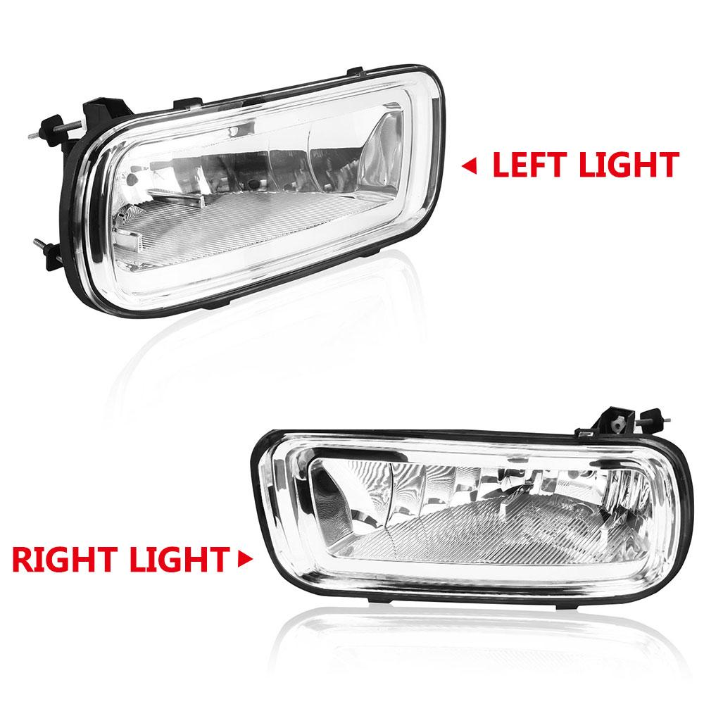 Fog Driving Lights Lamps Left /& Right Pair Set for 02-06 Avalanche Pickup Truck