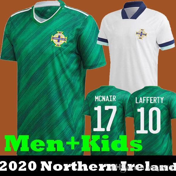 Neueste Thailand Qualität 2020 2021 Nordirland 20 21 Nordirland Fußball-Trikots zu Hause EVANS LEWIS MAN KIDS Fußballhemden LAFFERTY