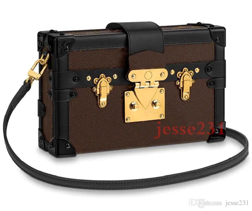 Высокое качество женщин сумка для туалетных принадлежностей клатч PETITE MALLE холст иконы сумки M44199 сумки на ремне сумки Размер: 20 см * 12 см * 5 см с коробкой