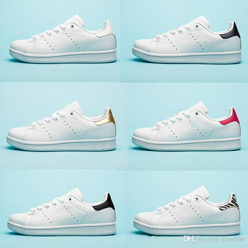 Designer shoes Chaussures stan for Mens smith flats shoes Red Blue Silver triple white black womens Outdoor Casual shoes size 36-45