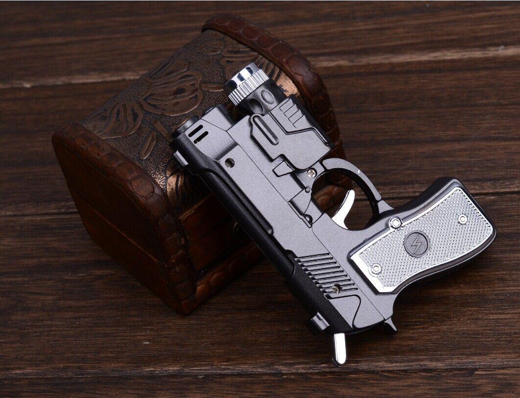 새로운 도착 만우절 장난 장난감 아이디어 담배 라이터 선출 충격 PersonTorch 전자 한 전자 권총에서 세 라이터