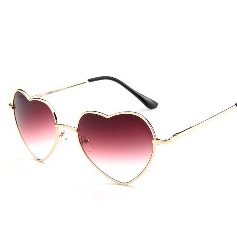 Love Heart Shaped Sunglasses Women Luxury Cat Eye Sun Glasses Ladies Sexy Sweet Designer Candy Mirror Lens Eyewear UV400
