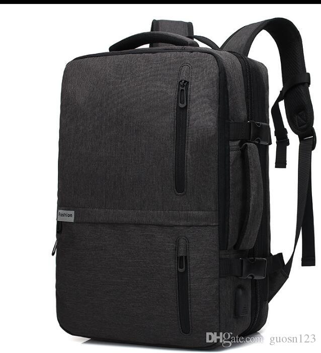 2019 многофункциональный мужской деловой моды рюкзак Оксфорд ткань путешествия мужская сумка рюкзак