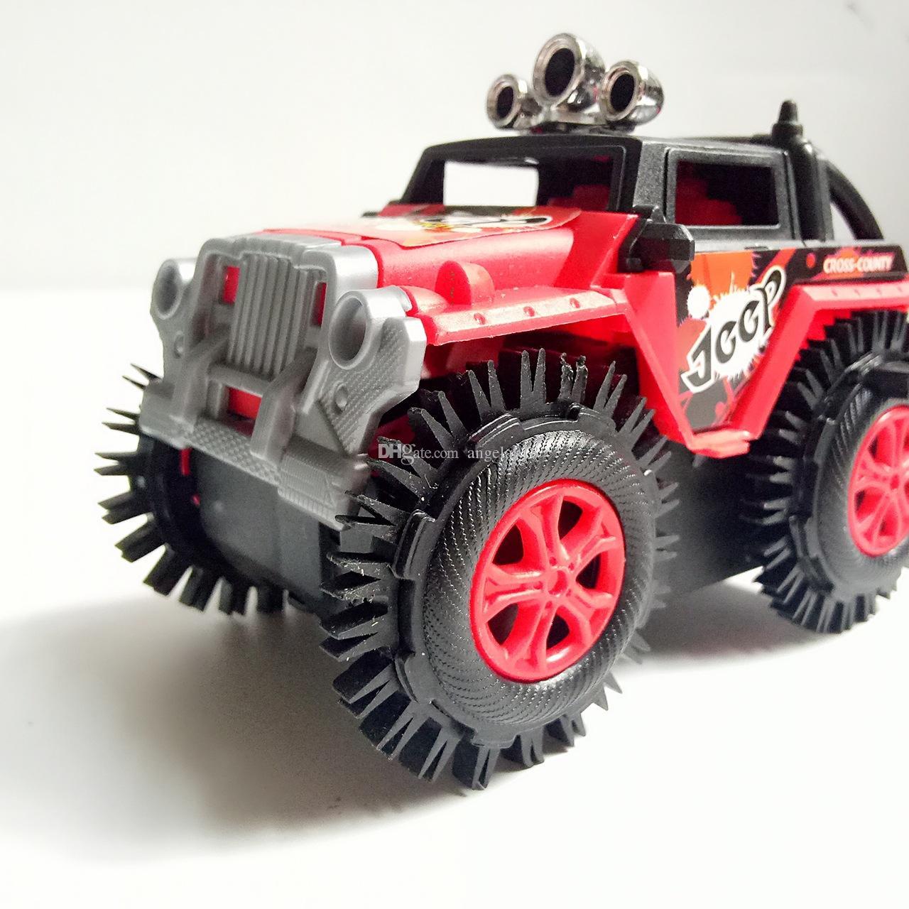 어린이 장난감 오프로드 스턴트 덤프 트럭 전기 자동차 차량 모델 3 색 특수 고무 타이어 V114