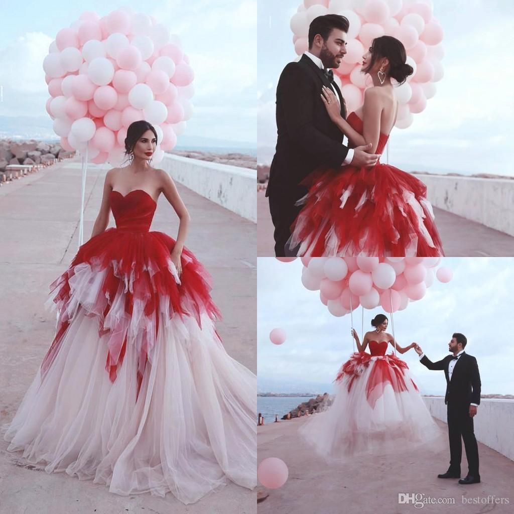 2020 Sweetheart Neck Contrast Colors Quinceanera Dresses Ruffles A Line Bridal Gown Mediterranean style Prom Dress Turkish Vestido de Novia