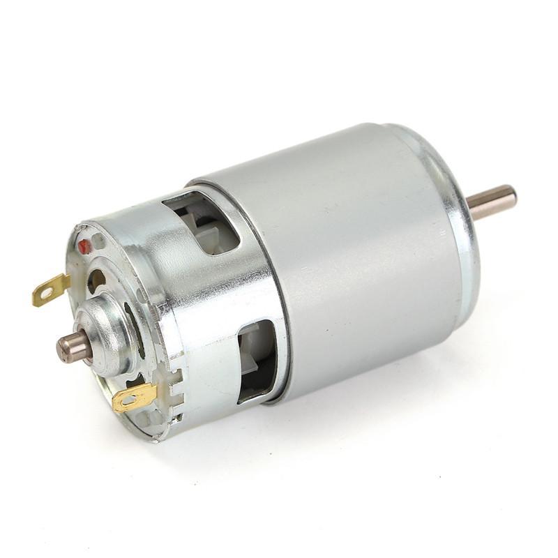 새로운 775 DC 모터 DC 12V-36V 3500-9000 RPM 볼 베어링 큰 토크 고출력 저소음 내구성 품질 모터 실버