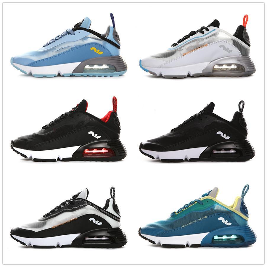 Nuevo 2090 Reaccionar Los hombres de los zapatos corrientes Triple Negro blanco de la escritura de la Bauhaus University Triple Blanco Rojo Olive Sport zapatillas de deporte 36-4