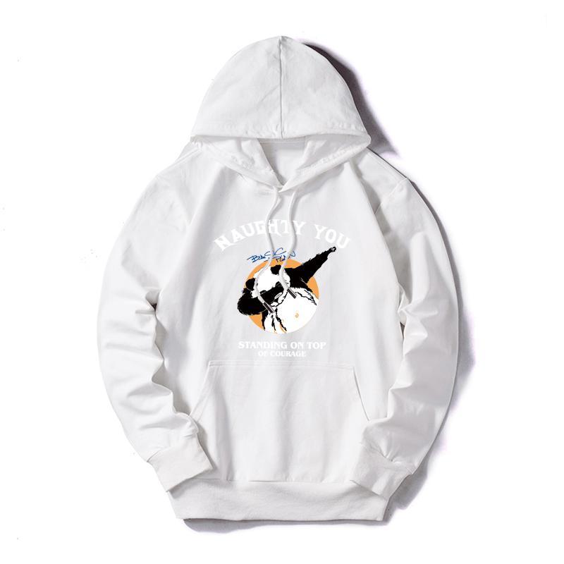Designer Herren Pullover mit Kapuze Anpassbare Panda Print Pullover Lässige Pullover Lomg-Hülsen-lose dünne Sweatshirts Größe M-5XL Großhandel