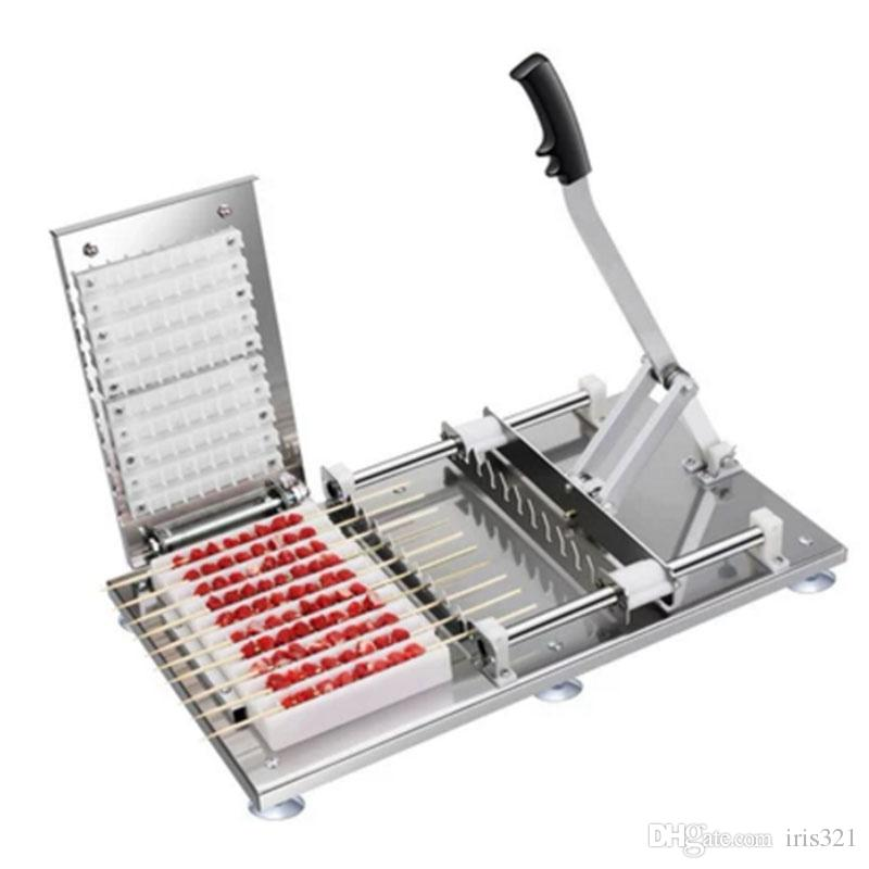 Kebap Yapma Makinesi Manuel Et Şiş Makinesi Döner Kebabı 10 Strings Makinesi Giymek