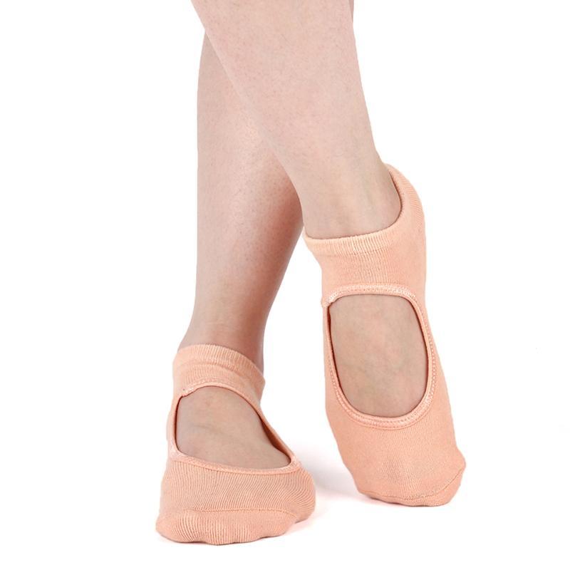 Anti calzini di slittamento di yoga per le donne Workout traspirante signore sport spiaggia Pilates Ballet Danza piede Scoken Sock
