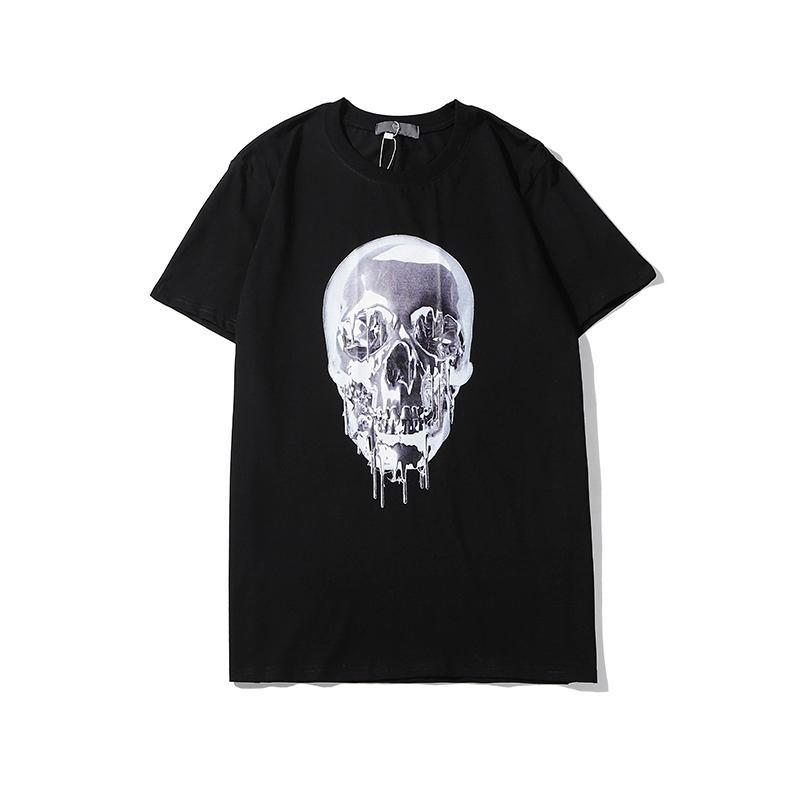2020 İlkbahar Moda Erkek Kadın Tişörtlü Yaz Marka Gömlek Tasarımcı T Gömlek Lüks Kafatası Baskı Unisex 2002032L Casual Gömlek RMELER