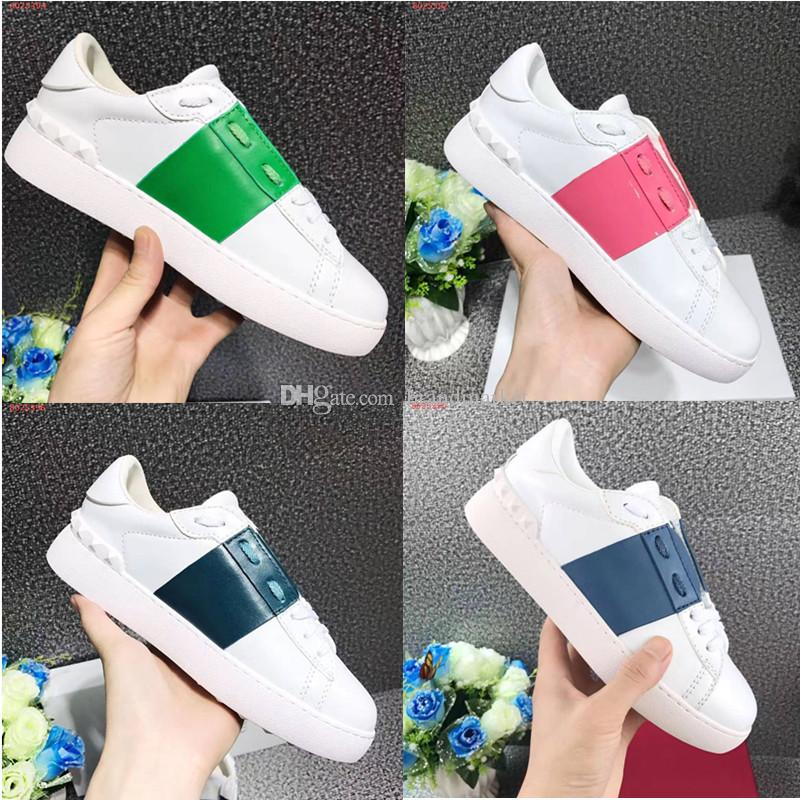 Fashion Designer Woman Casual Shoes Man Sneaker Comfortable Mixed Colors Rivets Yellow Green White Sneaker Shoe Drop Shipping Party With Box