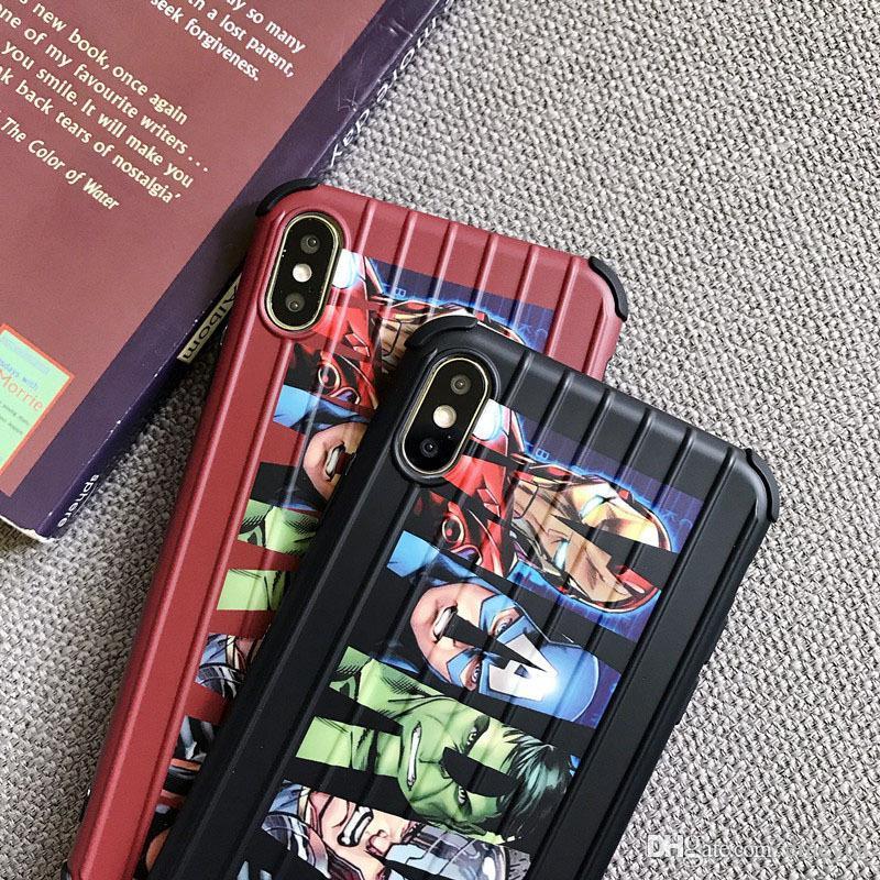 Mode Cartoon mignon, rue Sésame Trunk valise de cas pour l'iPhone 11 Pro Max X XS MAX XR 7 8 6 6S plus souple TPU Housse en silicone