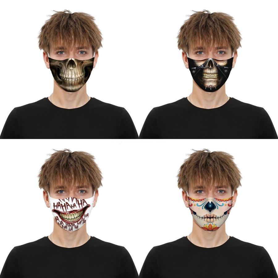 Wiederverwendbare Wasserdicht Atmungs Mode-Druck-Maske M-förmige Nasen-Klipp-Maske für Männer Frauen Whoelsale Gesichtsmaske # 772