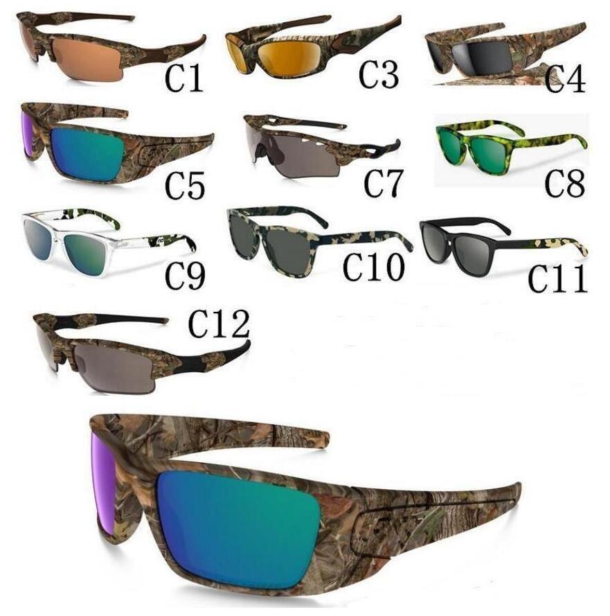 MOQ 10Set Newest Camo Brand Designer Sunglasses Mossyoak Realtree sun glasses Eyewear Sun glass frame camouflage sunglasses with zipper case
