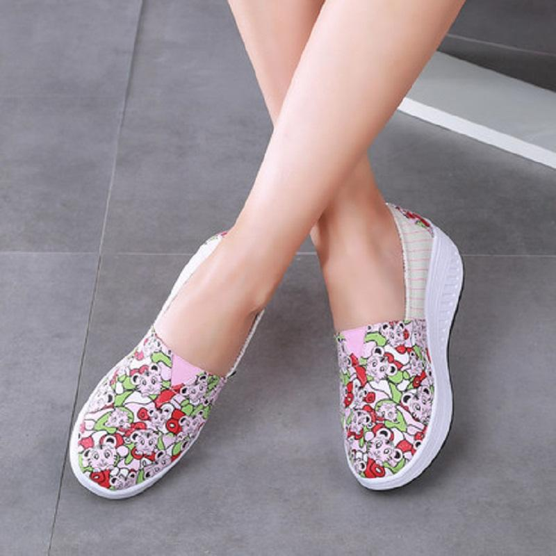 Hot Sale-ing Wedge Light Weight Sports Shoes For Women Swing Shoes Breathable Slimming Sneakers