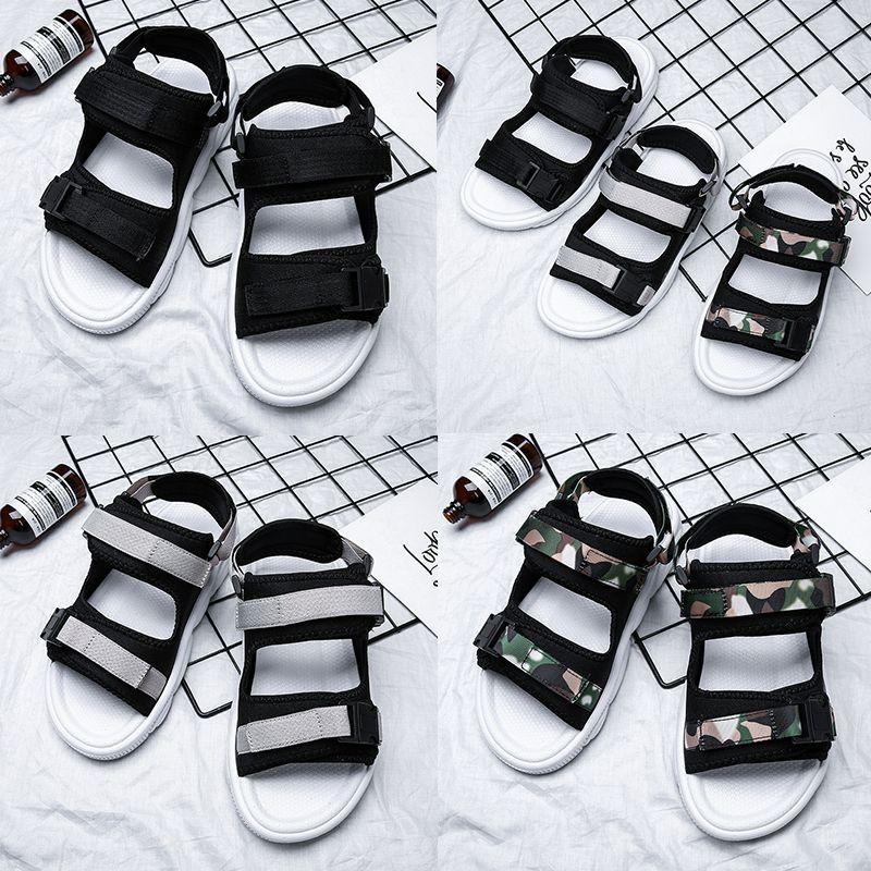 Yeni Marka tasarımcı Terlik Adam ve Kadın Severler Rahat Ayakkabılar Plaj Sandalet Açık Plaj Terlik Hip-Hop Sokak Sandalet ter ...