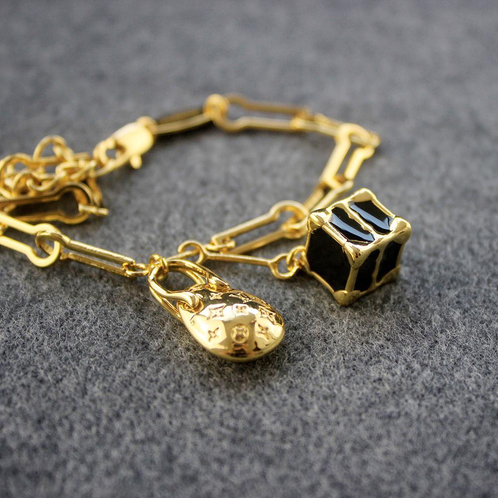 Золотой браслет женщин Dinosaur Eggs Box Замок Магистральные браслеты браслет партии ювелирных изделий День святого Валентина